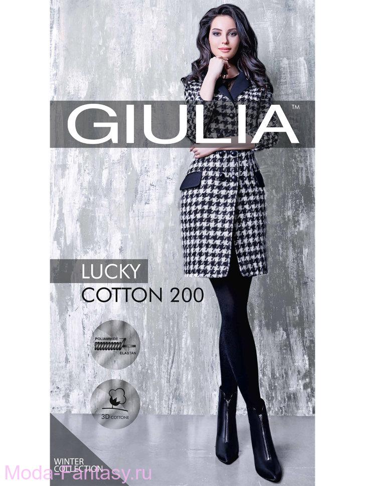 Теплые колготки Giulia LUCKY COTTON 200
