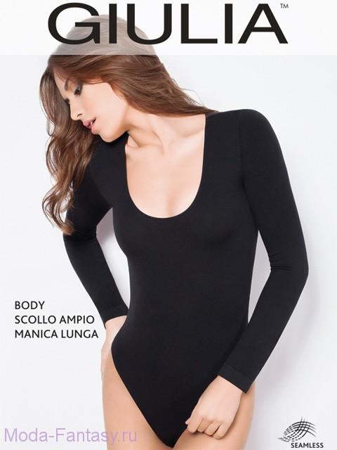 Бесшовное боди Giulia BODY SCOLLO AMPIO MANICA LUNGA
