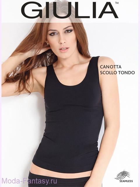 Бесшовная майка Giulia CANOTTA SCOLLO TONDO