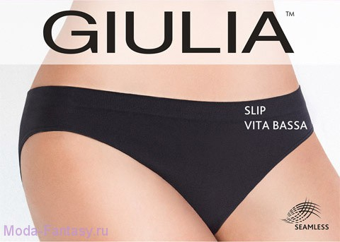 Бесшовные трусы Giulia SLIP VITA BASSA