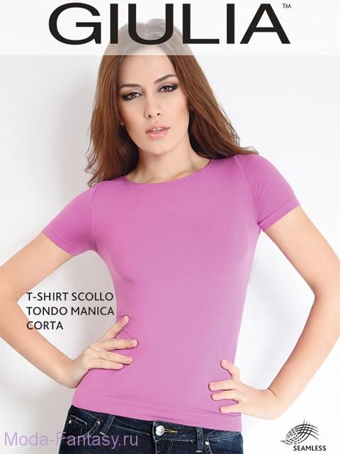 Бесшовная футболка Giulia T-SHIRT SCOLLO TONDO M.CORTA
