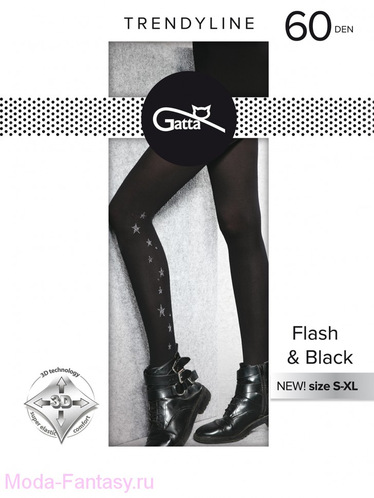 Колготки Gatta FLASH & BLACK 02